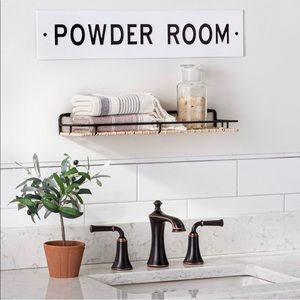 Hearth and hand powder room sign